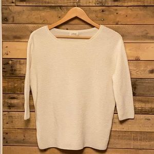 Aritzia Wilfrid 3/4 length ribbed sweater